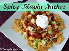 Spicy Tilapia Nachos is the perfect #appetizer!