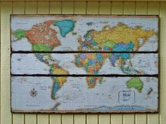 map on pallet boards