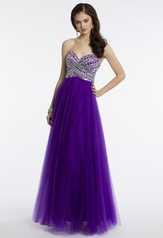 Camille La Vie Empire Prom Dress with Pleated Tulle Skirt