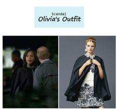 "On the blog: Olivia Pope's (Kerry Washington) black cape | Scandal - ""Mama Said Knock You Out"" (Ep. 315) #tvstyle #tvfashion #outfits #fashion #gladiators"