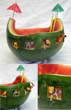 Noah's ark watermelon