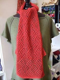 #Free Pattern; #Knit; Gridwork Scarf  ~~