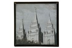 Salt Lake Spire 12x12 Temple Picture Plaque by Poppy Seed Projects.com.