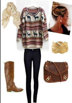 sweaters and skinnies and boots and scarves #typicalgirl #dontcare