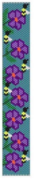 Flowers and bees bracelet Pattern at Sova-Enterprises.com. Lots of free beading patterns and tutorials on this site!