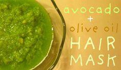 Diy Avocado - Olive Oil Hair Mask