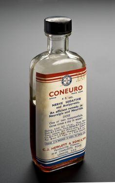 Coneuro nerve sedative, London, England, 1920-1960