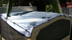 DIY Solar Bunkend Covers using Reflectix and binder clips.