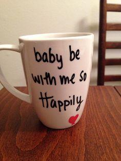One Direction - Happily lyric mug.             I WANT THIS TOO!