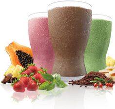 Tropical Strawberry, Chocolate and Greenberry Shakeology Shakes