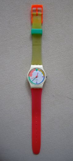 vintage swatch watch. I had this one too only it had a white band.