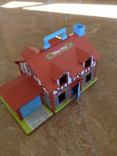 Vintage Fisher Price Playhouse Brown Tudor House by missenpieces, $28.00