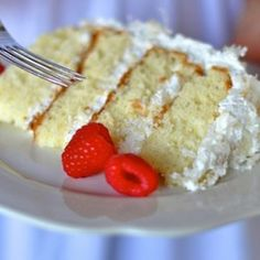 Heavenly Coconut Cake - for my father in law who loves coconut cake!