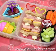 Kids lunch ideas... love the kabobs!