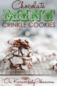Chocolate mint crinkle cookies recipe
