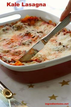 Kale Lasagna - so healthy, really tasty and would be great as Dinner on Halloween night!