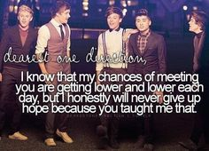Dearest One Direction,