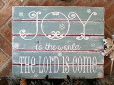Joy to the world Christmas sign