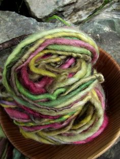 Handspun yarn handpaintedSuper Bulky Thick and Thin by Yarnarchy, $25.00