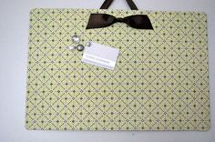 message center - fabric covered magnetic board