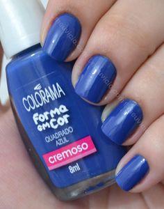 Esmalte Quadrado Azul Colorama Coleção Forma em Cor http://esmaltes.meuvicio.com/Esmaltes-Colorama/Quadrado-Azul