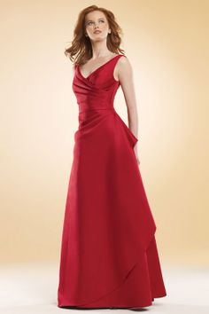 v neck bridesmaid gowns