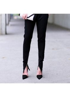 Amazing Pointed Toe D Orsay Black High Heels #trousers #style #fashion #streetstyle #fashiondrop