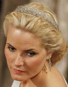 Princess Mette-Marit of Norway wearing the Diamond Daisy Tiara