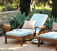 idea, dream backyard, potted plants, chaise lounges, backyard escap, outdoor, lounge chairs, pool time, pottery barn