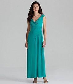 Sangria Crossover Maxi Dress #Dillards