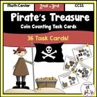 Pirate's Treasure Coin Counting Task Cards -36 Task Cards included. $