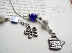 Silver & Blue Bookmark