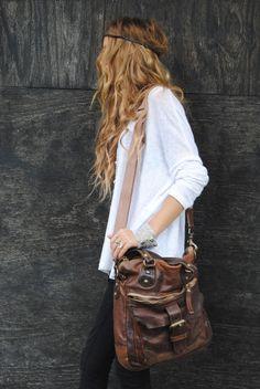 leather bag, shoulder bag