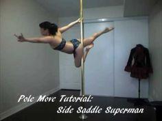 Pole Dance Move Tutorial: Side Saddle Superman poledanc, sidesaddl, saddl superman, side saddl