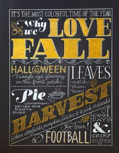 """""""Why We Love Fall"""" print, via Jean Wilson in Midwest Living Magazine"""
