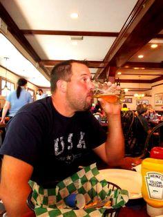 Lunch & Drinks Mackinaw Island on our honeymoon
