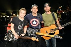 Hunter Hayes  Brad Paisley and Dierks Bentley
