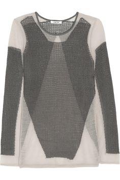 { Helmut LangOpen-knit sweater }