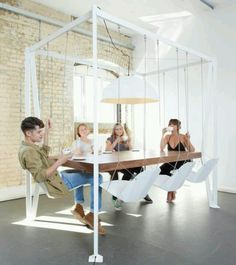 Swing set dining table- slightly modified
