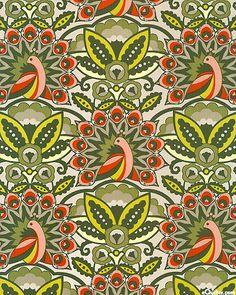 Peacock Parade - Basil Green