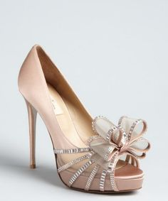 Valentino : blush satin crystal bow yes please!