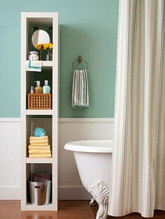 Love this storage unit in the #bathroom #homes #storage