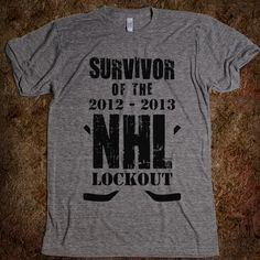 NHL Lockout Survivor robin, gift, breakfast club, bridesmaid, bat, ron weasley, t shirts, tote bags, kid