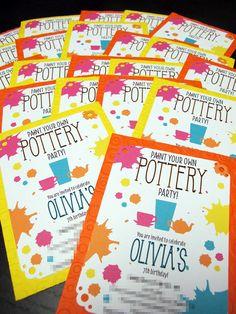 Art Pottery Party by BInvitationOnly on Etsy, $2.20