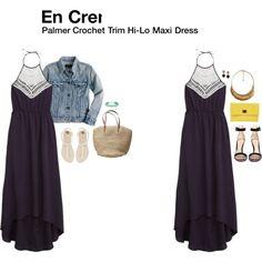 """""""Palmer Crochet Trim Hi-Lo Maxi Dress"""""""