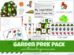 FREE Garden PreK Pack - This Reading Mama