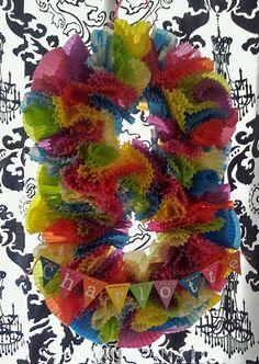 Cupcake Liner number OR letter wreath!