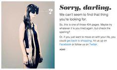 Epic 404, darling. http://threadflip.com/404