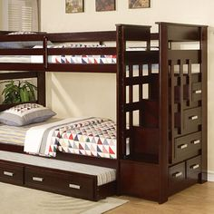 I love functional and attractive bunk beds. Especially for smaller bedrooms