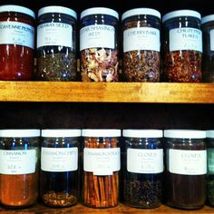 A good way of organising the aromatic and medicinal plants